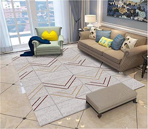 Modernas Diseño Geométrico gris Alfombra Infantil Impermeable Alfombra Para Salon Alfombras Antiacaros Alfombra lavable moderna para sala de estar,pasillo,lavadero,jardín de infantes 180×280CM