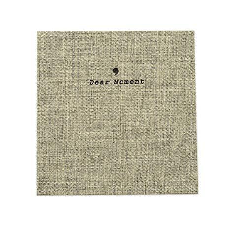 JXE Normcore Style Ramie Tessuto di Cotone Album Fotografico Titolare Scheda Nome Per Fujifilm Instax Wide 300/210 Instant 5 Inch Film (50 tasche) - Grigio