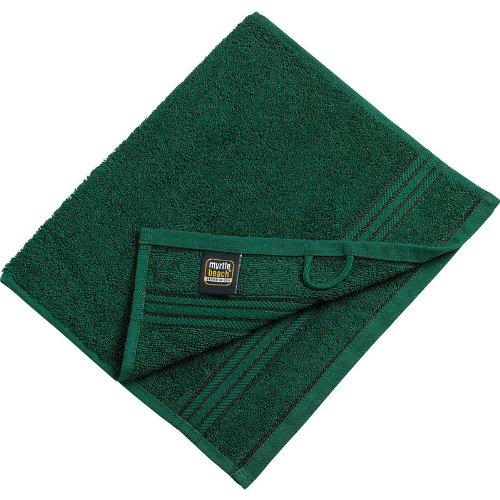 Myrtle Beach - lot 3 serviettes de toilette invité - vert foncé - 30 x 50 cm - MB420