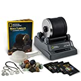 NATIONAL GEOGRAPHIC Hobby Rock Tumbler Kit - Includes Rough Gemstones, 4 Polishing Grits, Jewelry Fastenings and Detailed Learning Guide