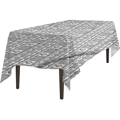 Aishare Store - Mantel impermeable (132 x 70 cm), color blanco y negro