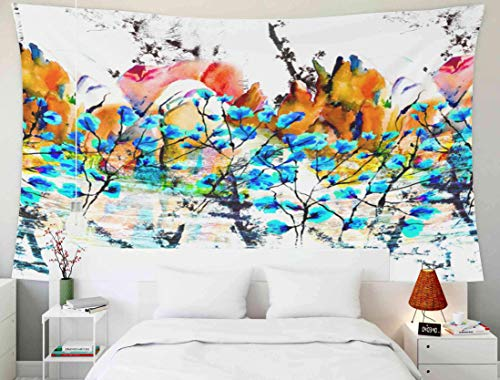 Tapices enormes, Tapiz de Pared Colgante para D & Eacute; Cor Sala de Estar Dormitorio Colorido Textura Fondo Salpicaduras Color acrílico en la Mesa de Madera