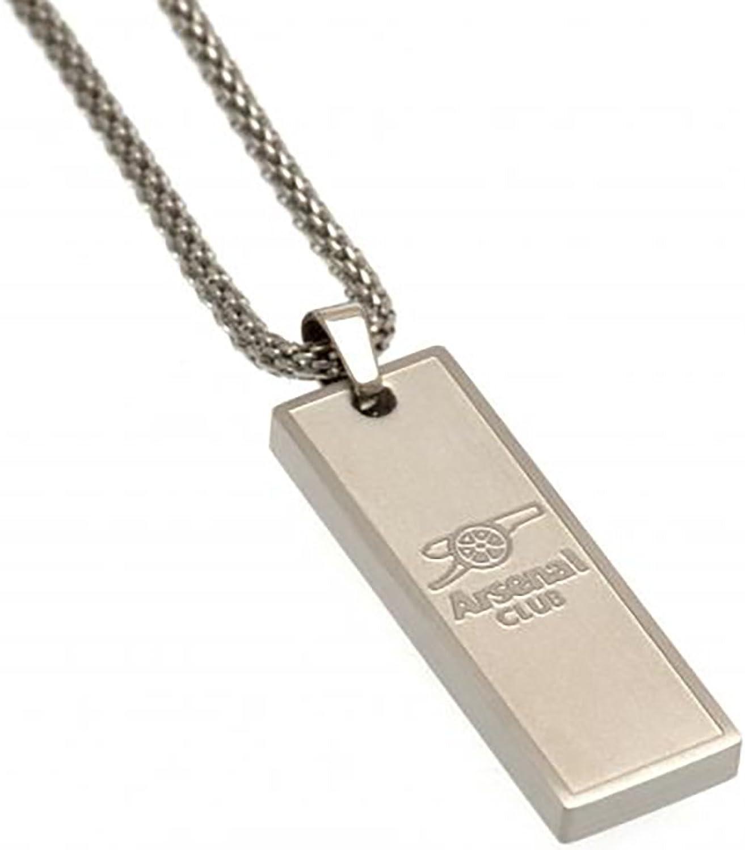 Arsenal F.C - Oblong Pendant & Chain B06ZY57N1M  Wirtschaft