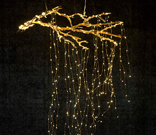 Lxcom Lighting Branch Lights Plug in Fairy String Lights 6.56Ft 280leds 14 Strands Twinkle String Lights Branch Lights Decoration for Garden Home Party Wedding Decorations(Warm White)