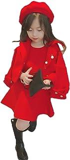 BAJIAN 子供服 キッズ 子供 女の子 上下 3点セット 帽子 オーバーオール トレーナー ボーダー ジーンズ アウター おでかけ