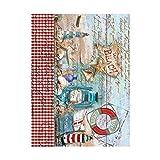 Cadence Papel de Arroz Decoupage Texto Fondo Marino Playa 30x41 cm