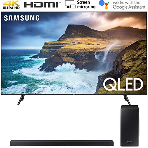 Great Deal! Samsung QN82Q70RA 82 Q70 QLED Smart 4K UHD TV (2019 Model) with 30W 3.1.2-Channel Sound...