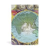 ブックカバー 文庫 a5 皮革 レザー 古い地図 文庫本カバー ファイル 資料 収納入れ オフィス用品 読書 雑貨 プレゼント