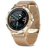 AIMIUVEI Smartwatch, Smartwatch, wasserdicht, mit Touchscreen, Herzfrequenzmesser, Schrittzähler,...