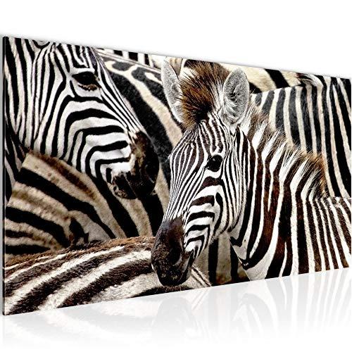 Wandbilder Afrika Zebra Modern Vlies Leinwand Wohnzimmer Flur Tiere Schwarz Weiss 000812a