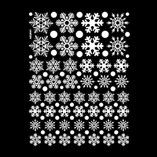 Banbie Weihnachten Schneeflocke Fenster klammert Aufkleber Aufkleber Winter Wonderland Dekorationen White Baubles Bells Decor