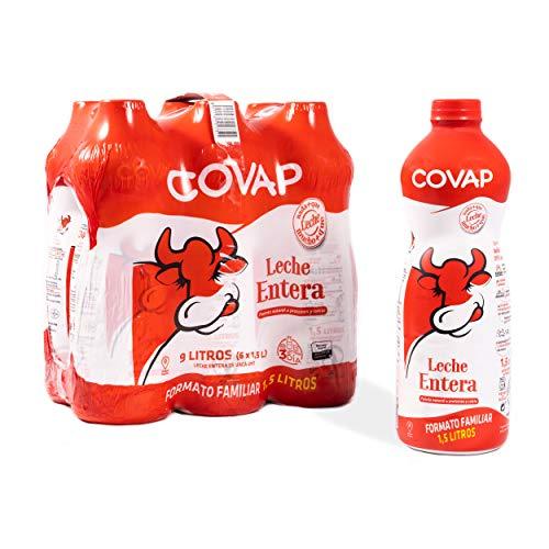 Lácteos Covap Leche Entera 1,5 L (pack 6 unidades)