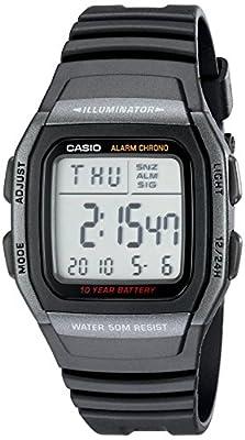 Casio Men's Classic Quartz Watch with Resin Strap, Black, 22 (Model: EAW-W-96H-1BV)