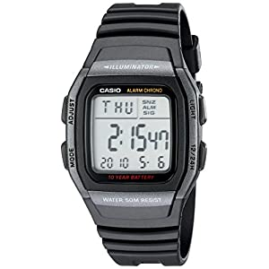 Casio watches Casio Men's Classic Quartz Watch with Resin Strap, Black, 22 (Model: EAW-W-96H-1BV)