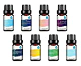 Pursonic 100% Pure Essential Aromatherapy Oil Blends Gift Set -8 Pack, 10ml, 0.75