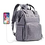 SUNVENO Wickeltasche, Rucksack, große Kapazität, Mutterschafts-Reisetaschen, Grau (grau), Large