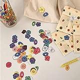 TTBH Cute Candy Color Smiley Stickerssealing Sticker Material de Bricolaje para Estudiantes Herramientas de decoración de Oficina Escolar 110 PC/Paquete