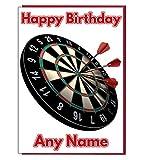 Dartscheibe Personalisierte GeburtstagskarteJeder Name und Alter Druck auf der Vorderseite