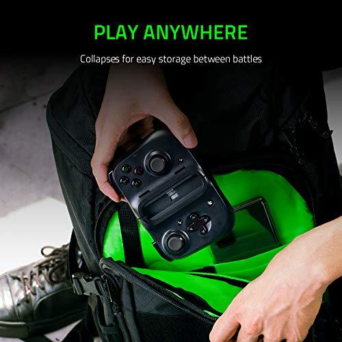 Razer Kishi für Android - Smartphone Gaming Controller (USB-C Anschluss, Ergonomisches Design, Individuelle Passform für Handys, Analog-Stick, Ultra niedrige Latenz) Schwarz