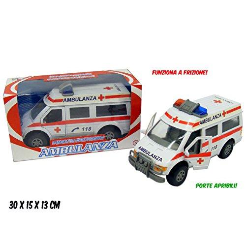 Toys Garden Srl- Ambulanza Frizione Cm.30 23963, Multicolore, 851058
