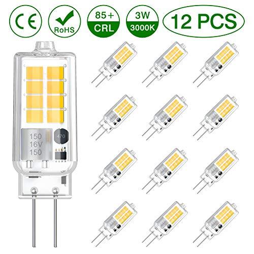 VITCOCO LED G4 Lampe 12pcs LED Birnen Warmesweiß 3000K 250LM 3W ersetzt 30W Halogenlampen SMD 16 * 2835 Nicht dimmbar Kein Flackern Energiesparlampe