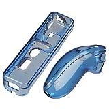 Hama Hardcase-Set für Nintendo Wii Fernbedienung, Transparent-Blau