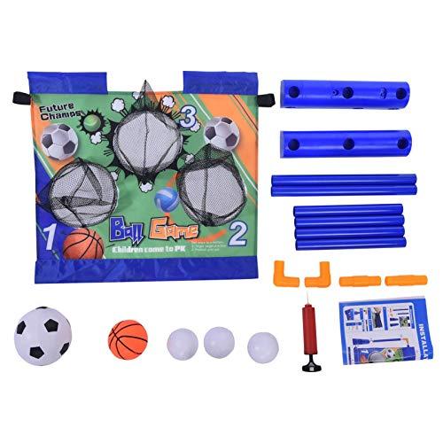 Aosong Red eléctrica de portería de fútbol para interiores y exteriores, para entrenamiento de práctica de fútbol en jardín, con bomba de baloncesto para interior, para entretenimiento familiar