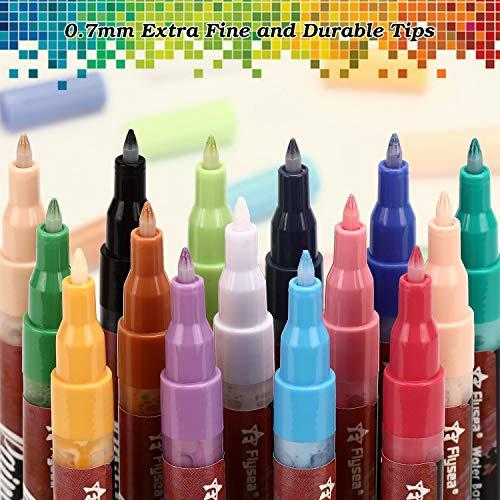Rotuladores de Pintura Acrílica, Gafild 15 Colores Rotuladores ...