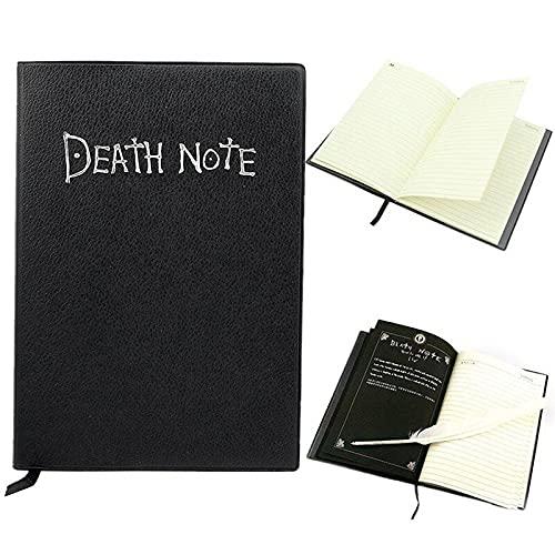LAZNG Cuaderno Diario A5 Composición Cuaderno, Anime Death Note Note Cuaderno Conjunto de Cuero Diario de Cuero y Collar Pluma Pluma Diario Muerte Note Pad para Regalo Diario de Cuero (tamaño : A5)