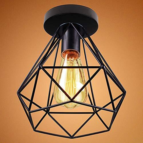Mengjay moderno industrial vintage retro luz de techo lámpara de techo suspensión lámparas colgantes, enchufe E27, para pasillo, entrada, comedor, bar, café, dormitorio, sala de estudio, oficina