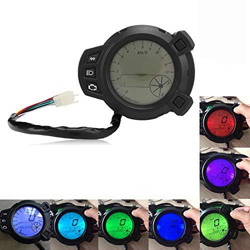 Motocicleta Instrumentos LCD Velocímetro Tacómetro
