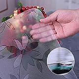 LIUJIU Cubierta de mesa transparente de vinilo impermeable transparente transparente del protector del mantel del plástico, 40x60CM