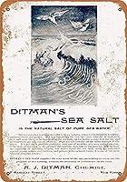 Ditman's Sea Salt ティンサイン ポスター ン サイン プレート ブリキ看板 ホーム バーために
