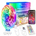 Militisto Rainbow LED Light Strips - App Control Dreamcolor RGBIC LED Strip Lights 32.8ft (1-Pack) - Music Sync LED Lights for Bedroom,Aesthetic Room Decor,Smart Home, Home Decorations, Dorm Decor