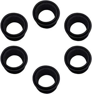 Super SW 6 Pieces Black Rubber Fishing Rod Holder Insert Rod with Cap Protectors Kit Fit for Rod and Reel Protectors