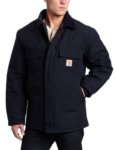 Carhartt Men's Big & Tall Arctic Quilt Lined Duck Traditional Coat C003,Dark Navy,X-Large Tall