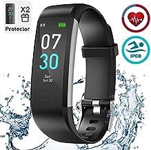 iWalker Smart Pulsera Fitness Tracker, Pulsera Actividad de Frecuencia Cardíaca, Impermeable IP68, Podómetro Deportiva Reloj para Xiaomi, Huawei, iPhone y Android