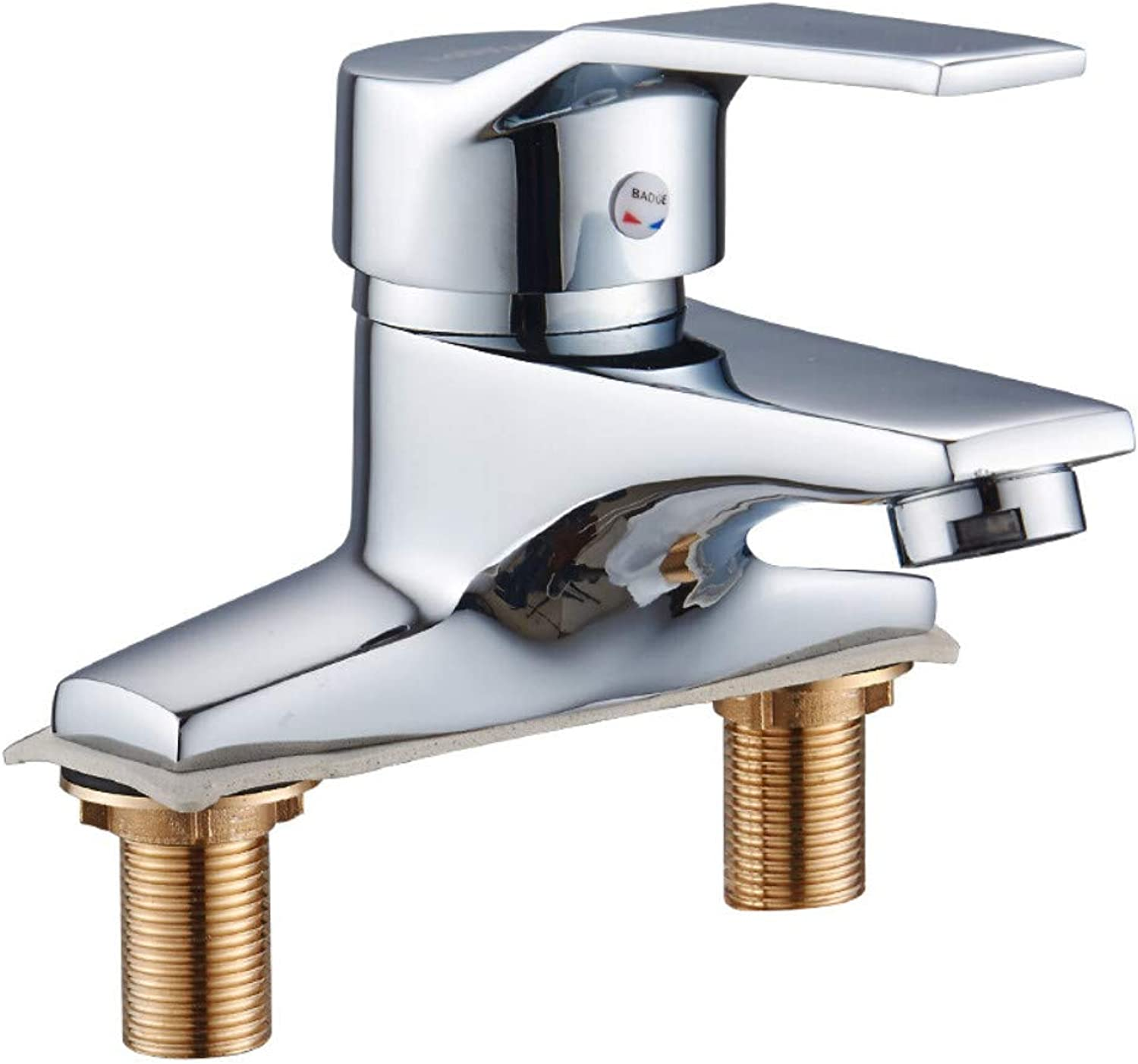 Kitchen Sink Tapbathroom Sink Tap bathroom Hardware Main Copper Faucet Basin Basin Hot And Cold Double Faucet Double Hole Square Faucet
