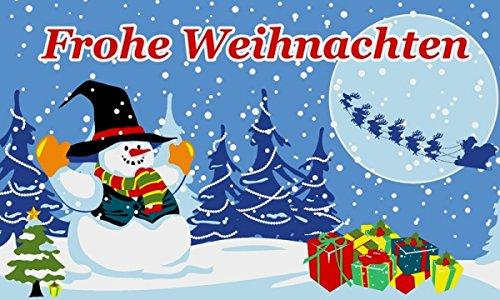 UB Fahne/Flagge Frohe Weihnachten Schneemann Weihnachtsfahne 90 cm x 150 cm Neuware!!!