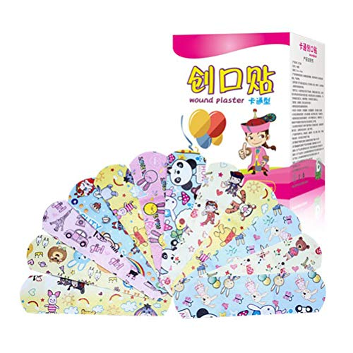 120Pcs Kids First Aid Plasters Children's Band-Aid Cartoon Hemostasis Band-Aid Breathable Bandage Adhesive