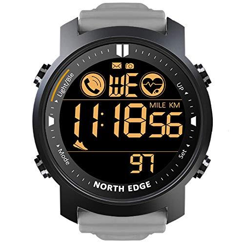 LICHUXIN Smart-Sport-Uhr, Herzfrequenz-Tracker und Schlaf-Detektor, Wassersport Pedometer-Uhr mit Hintergrundbeleuchtung, Außen Körperliche Betätigung Reise