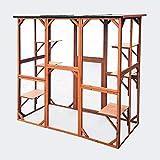 WilTec Enclos extérieur Parc pour Chat résistant aux intempéries 180 x 88 x...