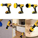 MASO 3PCS Electric Drill Cleaning Brushes Kit Power Scrub Brush Attachment for Cleaning