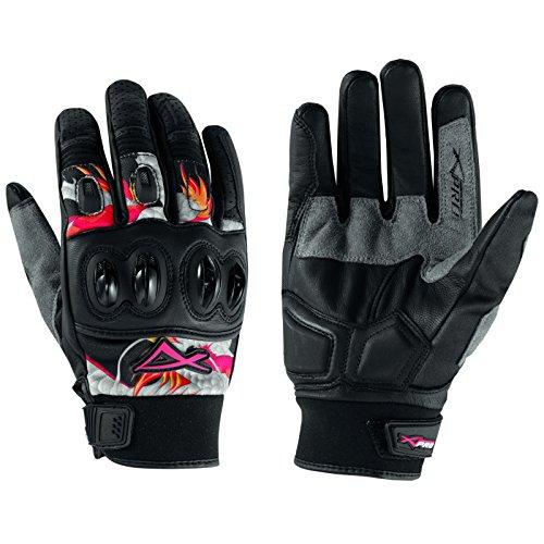 A-pro - Guantes de piel para motocross (talla XL), color gris