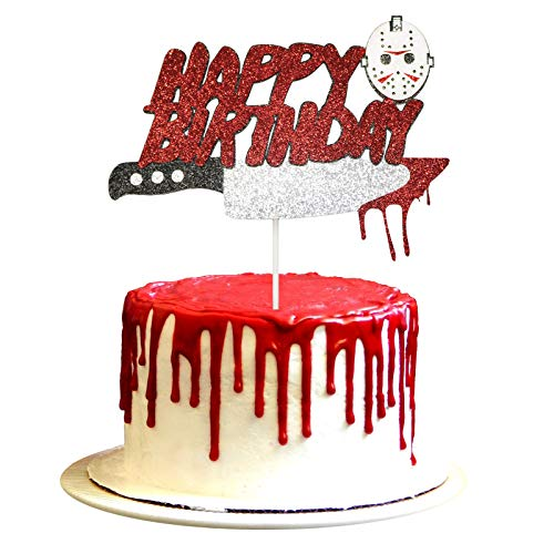 Have A Killer Birthday Cake Topper Jason Friday the 13th Birthday Party Decorations Cake Topper Halloween Birthday Cake Topper Horror Movie Party Decorations Halloween Zombie Vampire Party Decorations