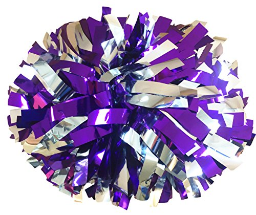 Best cheerleader pom poms purple and silver for 2021