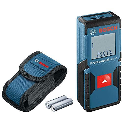 Bosch Professional Distanziometro laser GLM 30 (campo di misurazione: 0,15 – 30 m, 2 pile a stilo da 1,5 V, custodia protettiva)