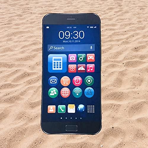 Toalla de Playa Microfibra con Forma de Teléfono Móvil - Diseño Innovador, Fresco, Tentador y Divertido de un móvil   150x74 cm