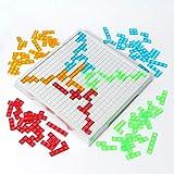 TOPVORK Juego de puzles de cerebro juguete tangram ruso colorido rompecabezas con una bolsa de almacenamiento regalo educativo para niños pequeños