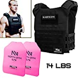 Northgym Adjustable Fitted 14lbs Weighted Vest for Men and Women/Perfect for Endurance & Strength...